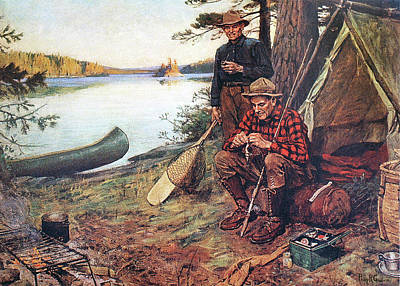 Painting - Tying One On by Philip R Goodwin