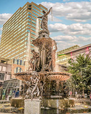 Photograph - Tyler Davidson Fountain 1 by Keith Allen