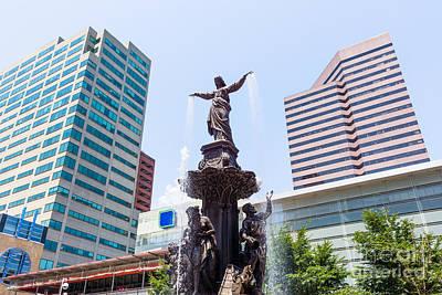 Female Figure Photograph - Tyler Davidson Fountain Cincinnati Ohio  by Paul Velgos