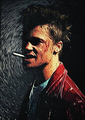 Digital Art - Tyler Durden by Taylan Apukovska