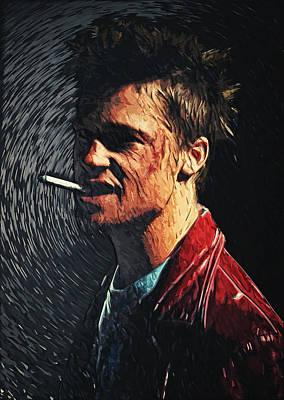 Film Maker Digital Art - Tyler Durden by Taylan Apukovska