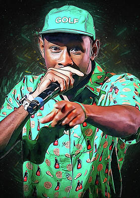 Wiz Khalifa Digital Art - Tyler, The Creator by Semih Yurdabak