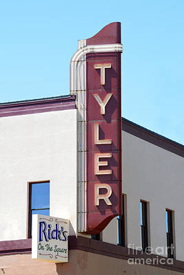 Photograph - Tyler Theater Sign by Catherine Sherman