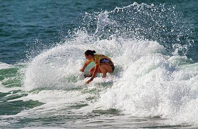 Photograph - Tyler Wright Surf Professional by Waterdancer