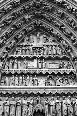 Photograph - Tympanum Doorway At Cathedral Basilica Of Our Lady Of Amiens, France by Aidan Moran