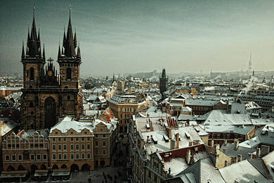 Tyn Church, Prague Print by Erik T Witsoe