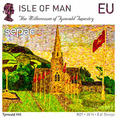Medieval Temple Painting - Tynwald Hill by Lanjee Chee