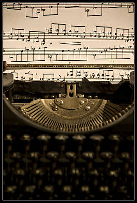 Typewriter Photograph - Type Music Letters In Paper by Martin Zalba