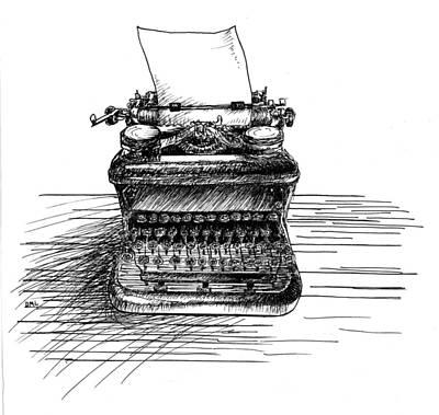Typewriter Art Print by Diana Ludwig