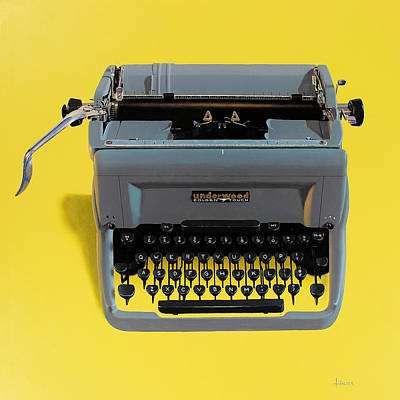 Typewriter Painting - Typewriter by Henry Balzer