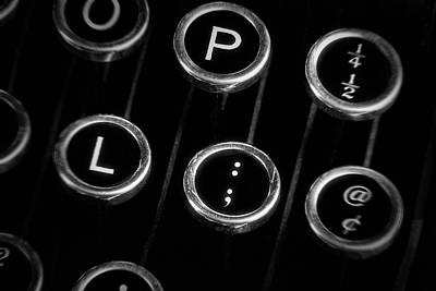 Photograph - Typewriter Keyboard II by Tom Mc Nemar