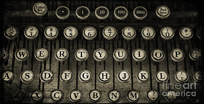 Antique Typewriter Photograph - Typewriter Keys 2 by Cindi Ressler