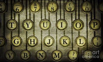 Antique Typewriter Photograph - Typewriter Keys by Cindi Ressler