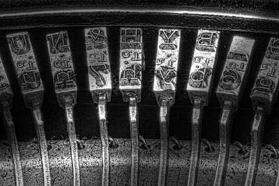 Antique Typewriter Photograph - Typewriter Keys by Tom Mc Nemar