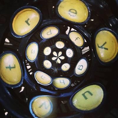 Typewriter Photograph - Typewriter Key Rose by Heather Classen