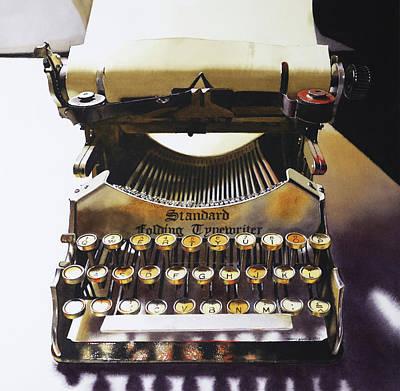 Typewritering Art Print