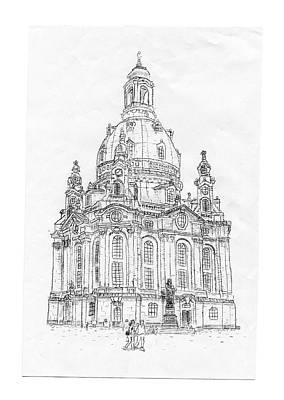 Typewritten Frauenkirche/dresden Art Print by Robert Doerfler