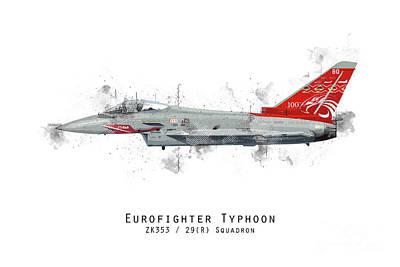 State Love Nancy Ingersoll - Typhoon Sketch - ZK353 by Airpower Art