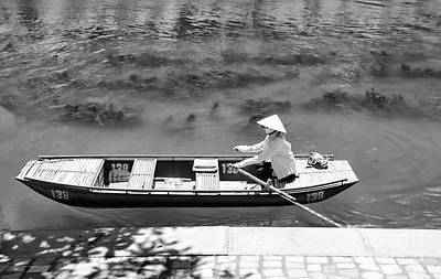 Photograph - Typical Boat Black White  by Chuck Kuhn