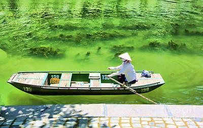 Photograph - Typical Boat Tam Coc  by Chuck Kuhn