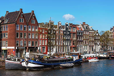 Photograph - Typical Dutch Buildings In Amsterdam by Jenny Rainbow