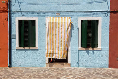 Photograph - Typical House In Burano by Pietro Ebner