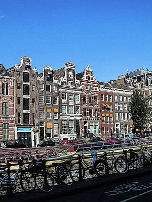 Typical Houses In Amsterdam Art Print