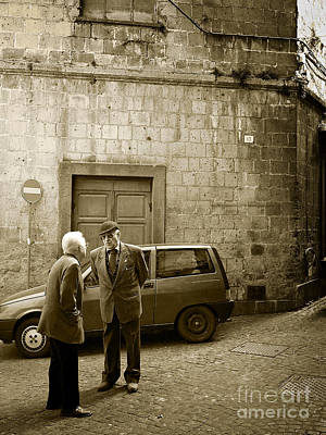 Photograph - Typical Italian Street Scene In Sepia by IPics Photography