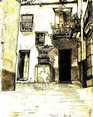 Typical Malaga Art Print by Linda Hubbard Red Cap Art