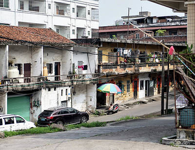 Photograph - Typical Shilong Housing by Endre Balogh