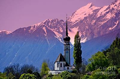 Photograph - Typical Tyrolean Church Austria by Elzbieta Fazel