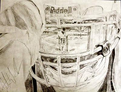 Detroit Lions Drawing - Tyrann Mathieu by Justin Wade