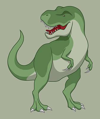 Tyrannosaurus Rex Dinosaur Green Original
