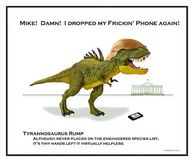 Digital Art - Tyrannosaurus Rump by Bonnie Follett