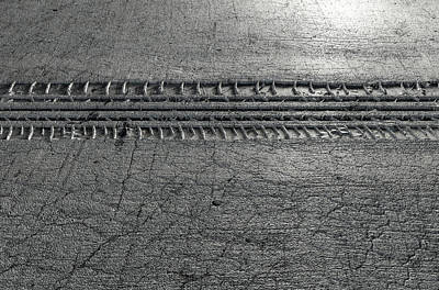 Tyre Track In The Ground Art Print