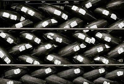 Photograph - Tyre Wall by David Warrington