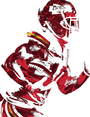 Mixed Media - Tyreek Hill Kansas City Chiefs Pixel Art 1 by Joe Hamilton