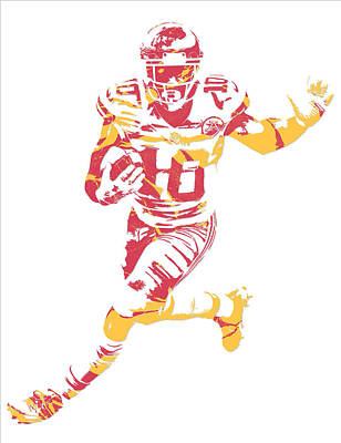 Mixed Media - Tyreek Hill Kansas City Chiefs Pixel Art 6 by Joe Hamilton