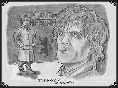 Drawing - Tyrion Lannister-  by Chris  DelVecchio