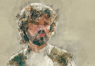 Celebrities Painting - Tyrion Lannister, Game Of Thrones by Dante Blacksmith