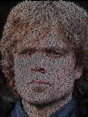 Painting - Tyrion Lannister Quotes Mosaic by Paul Van Scott