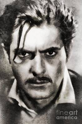 Power Painting - Tyrone Power, Vintage Actor By John Springfield by John Springfield
