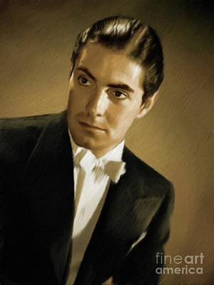 Musicians Royalty Free Images - Tyrone Power, Vintage Actor Royalty-Free Image by Esoterica Art Agency