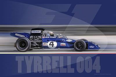 Photograph - Tyrrell 004 by Ed Dooley