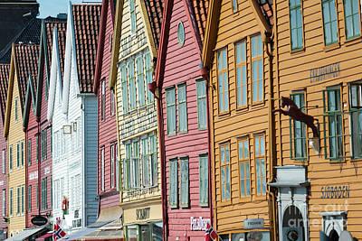 Photograph - Tyske Bryggen, Bergen by Andrew Michael