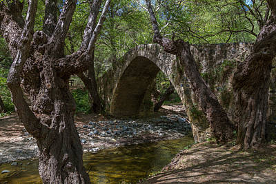 Cyprus Photograph - Tzelefos Picturesque Medieval Bridge by Iordanis Pallikaras