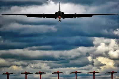 U-2 Landing At Sunset Art Print by Jared Denton