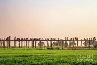 Burmese Python Wall Art - Photograph - U Bein Bridge by Louise Poggianti