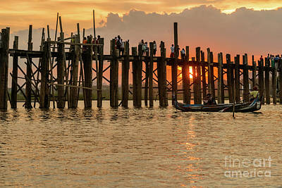 Photograph - U-bein Bridge by Werner Padarin