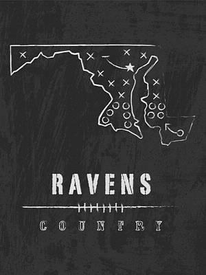 Baltimore Ravens Art - Nfl Football Wall Print Art Print by Damon Gray